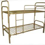 Армейские кровати металлические для обстановки казарм, бараков, тюрем
