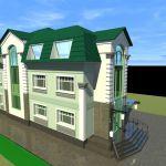 Продаётся дом 3-х эт. 600 кв.м. Без внутренних работ. Центр.