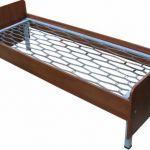 Кровати металлические с сеткой из прокатной пружины для домов отдыха, санаториев, пансионатов