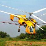 Вертолет - опрыскивание кукурузы корагеном