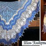 Красивая шаль, связанная спицами