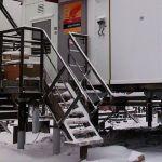 Лестницы стальные маршевые типа ЛГВ 45-12.7 по серии 1.450.3-7.94.2 с решетчатыми ступенями