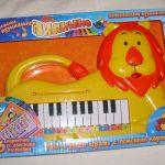 Детское пианино  Лев с  3 карточками с мелодиями  Тилибом новое