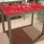 Стеклянные столы и стулья!