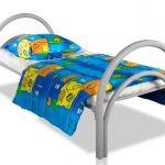 Кровати металлические эконом класса одноярусные для медицинских учреждений