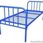 Одноярусные металлические кровати для вагончиков, кровати одноярусные, кровати армейские, оптом.