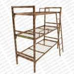 Трехъярусные металлические кровати для рабочих, кровати для общежитий, двухъярусные кровати для