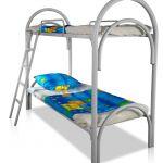 Двухъярусные кровати металлические для детских оздоровительных лагерей, Кровати оптом