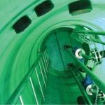 Стальные канализационные лестницы-стремянки марки С1-05 для спуска в колодцы по ТПР 902-09-22.84