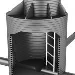 Стальные канализационные лестницы-стремянки марки С1-06 для спуска в колодцы по ТПР 902-09-22.84