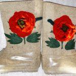Валенки, валеночки, галоши, галошки, изделия ручной работы из натуральной шерсти
